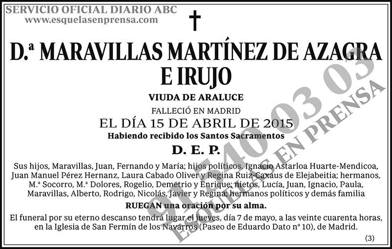 Maravillas Martínez de Azagra e Irujo